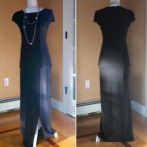 Cache 2-piece short sleeve top and maxi skirt